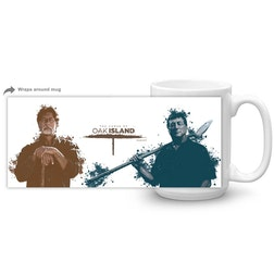 The Curse of Oak Island Rick and Marty White Mug
