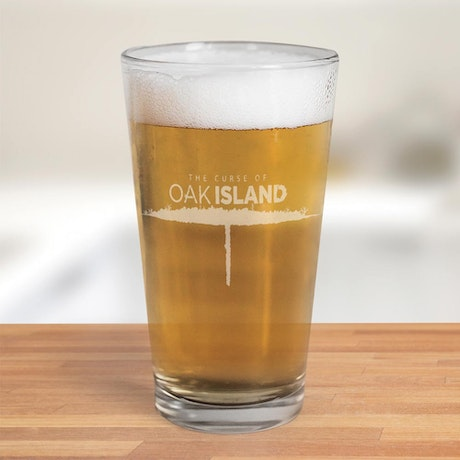 The Curse of Oak Island Etched 16 oz Pint Glass