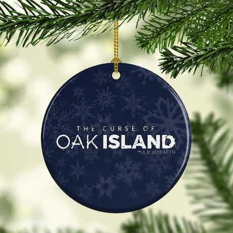 The Curse of Oak Island Logo Double-Sided Ornament