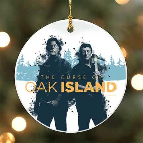 The Curse of Oak Island Rick and Marty Ceramic Ornament