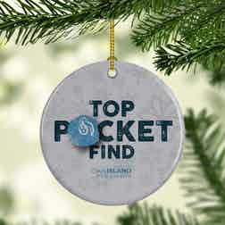 The Curse of Oak Island Top Pocket Find Double-Sided Ornament