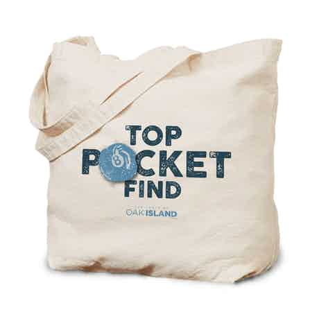 The Curse of Oak Island Top Pocket Find Canvas Tote Bag