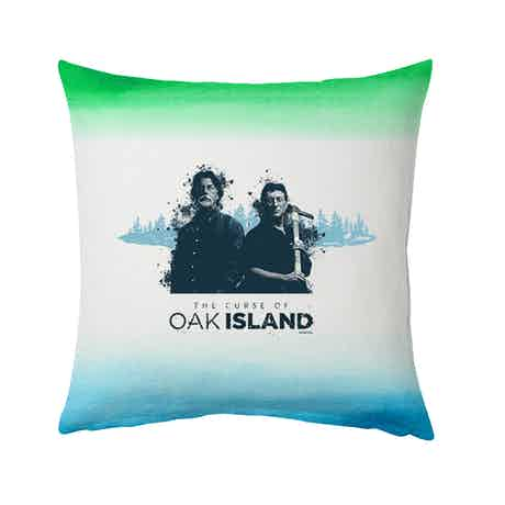 """The Curse of Oak Island Rick and Marty Pillow - 16"""" X 16"""""""