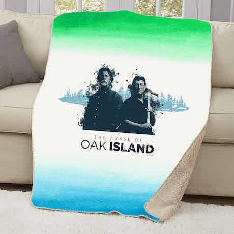 The Curse of Oak Island Rick and Marty Sherpa Blanket
