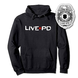 Live PD Logo Hooded Sweatshirt With Sticker Bundle