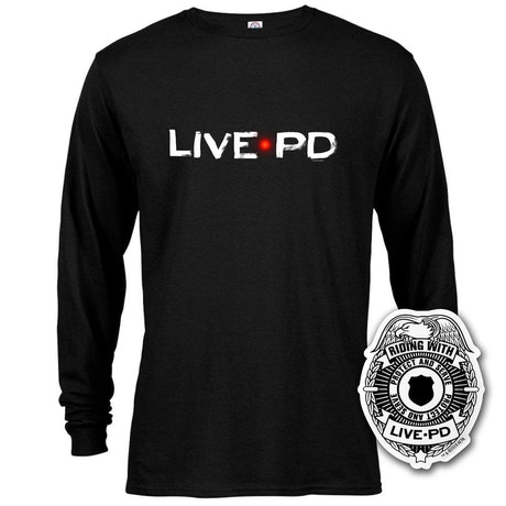 Live PD Logo Long Sleeve T-Shirt With Sticker Bundle