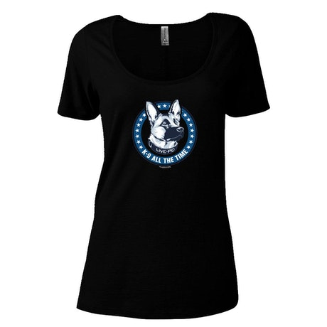 Live PD K9 All The Time Women's Relaxed Scoop Neck T-Shirt