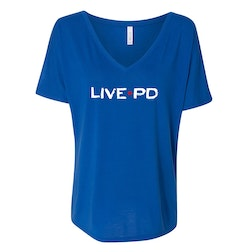 Live PD Logo Women's Relaxed V-Neck T-Shirt