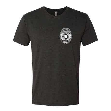 Live PD Badge Men's Tri-Blend Short Sleeve T-Shirt
