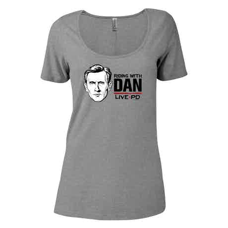 Live PD Riding with Dan Women's Relaxed Scoop Neck T-Shirt