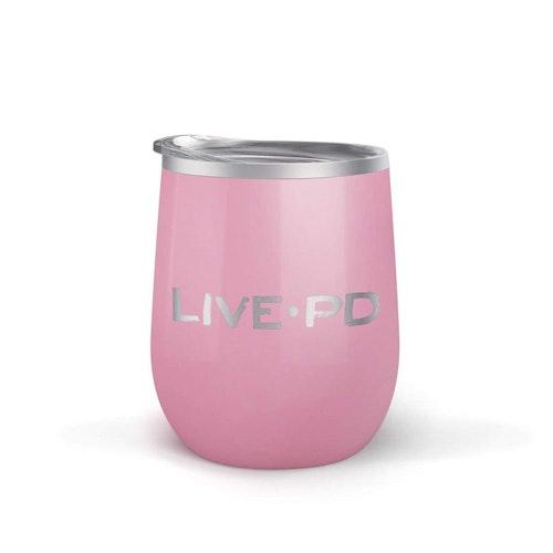 Live PD Logo 12oz Tumbler Pink