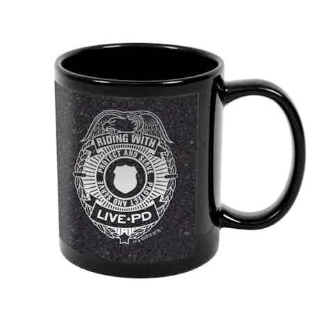 Live PD Badge Black Mug