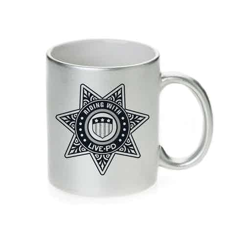 Live PD Badge Metallic Mug