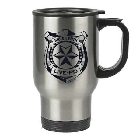 Live PD Badge Travel Mug
