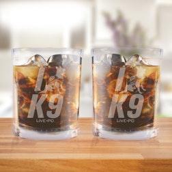 Live PD K9 Short Glasses - Set of 2