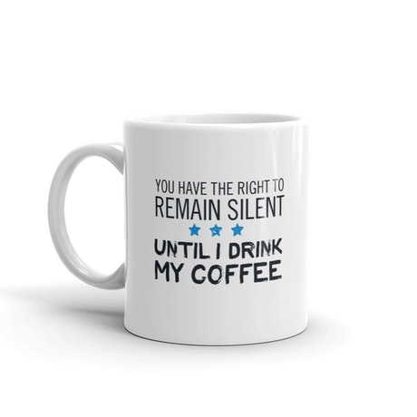 Live PD The Right To Remain Silent White Mug
