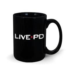 Live PD Black 15 oz Mug