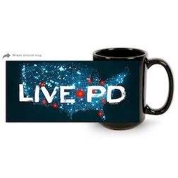 Live PD Map 15 oz Black Mug