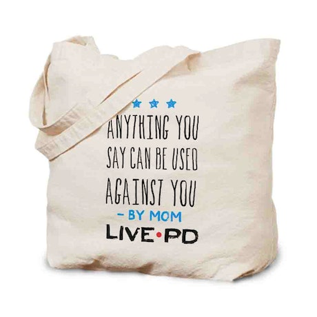Live PD By Mom Canvas Tote Bag
