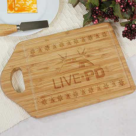 Live PD Holiday Sirens Cutting Board