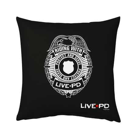 "Live PD Badge Pillow - 16"" X 16"""