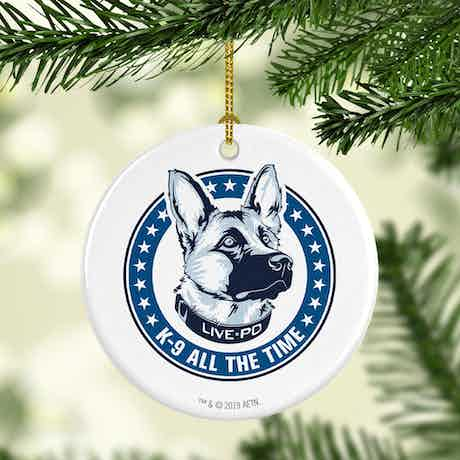 Live PD K9 All The Time Double-Sided Ornament