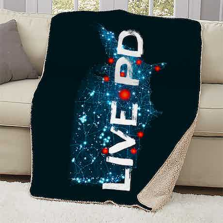 Live PD Map Sherpa Blanket