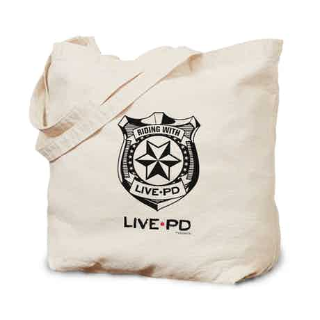 Live PD Badge Canvas Tote Bag