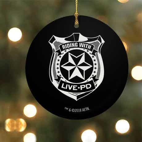 Live PD Badge Ornament