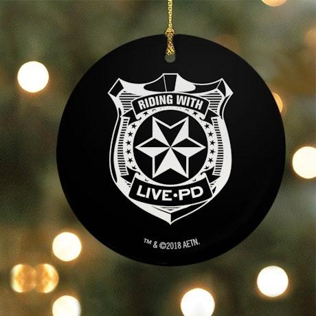 Live PD Badge Ornament