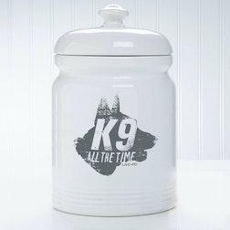 Live PD K-9 Treat Jar