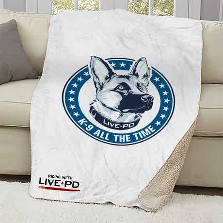 Live PD K-9 All The Time Sherpa Blanket