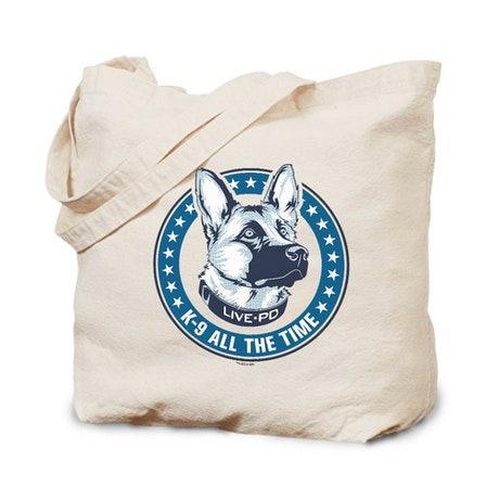 Live PD K-9 All The Time Canvas Tote Bag
