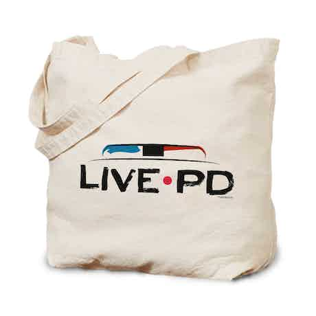Live PD Siren Canvas Tote Bag