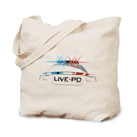 Live PD Siren Cop Car Canvas Tote Bag