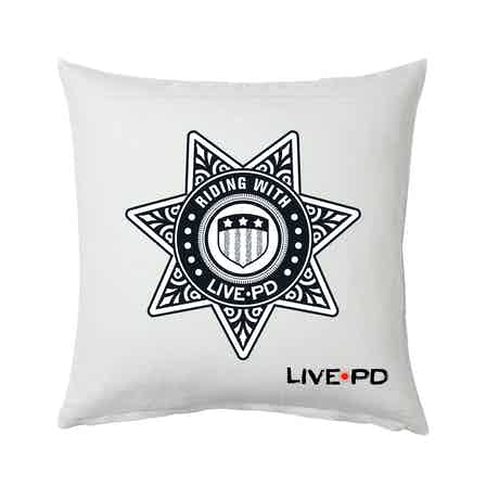 """Live PD Riding With Pillow - 16"""" X 16"""""""