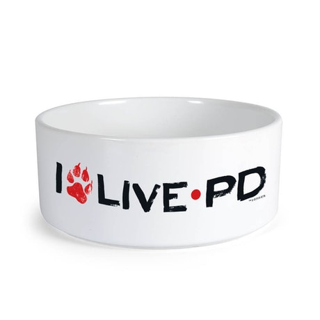 Live PD Paw Print Dog Bowl