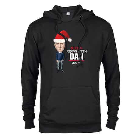 Live PD Sleigh Riding With Dan Lightweight Hooded Sweatshirt