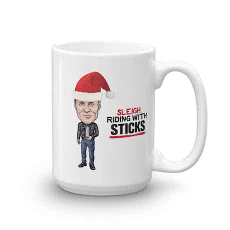 Live PD Sleigh Riding With Sticks 15 oz Mug