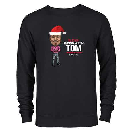Live PD Sleigh Riding With Tom Lightweight Crewneck Sweatshirt