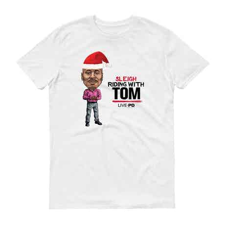 Live PD Sleigh Riding With Tom Adult Short Sleeve T-Shirt