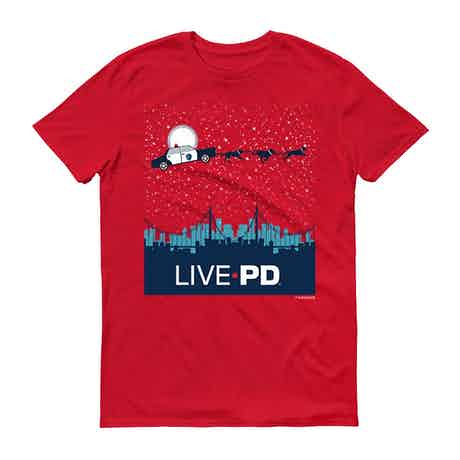 Live PD Holiday Sleigh Adult Short Sleeve T-Shirt