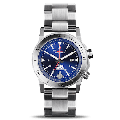 Fox News Hypertec H-61 Silver Blue Watch