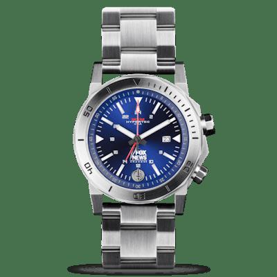 Fox News Hypertec H-61 Silver Blue Watch