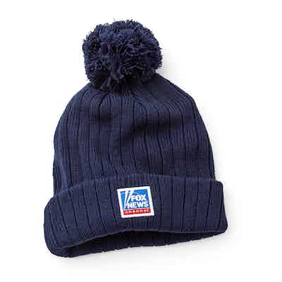 Fox News Navy Winter Pompom Hat