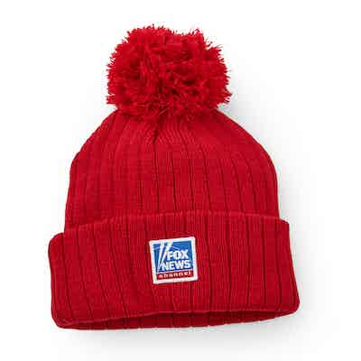 Fox News Red Winter Pompom Hat