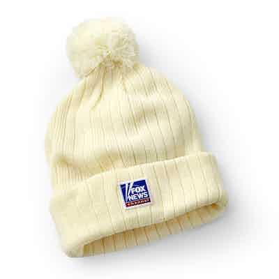 Fox News White Winter Pompom Hat