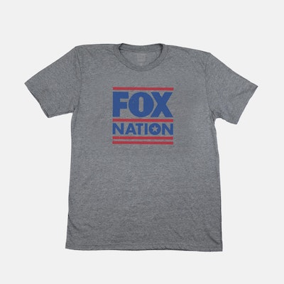 Fox Nation Logo Charcoal T-Shirt